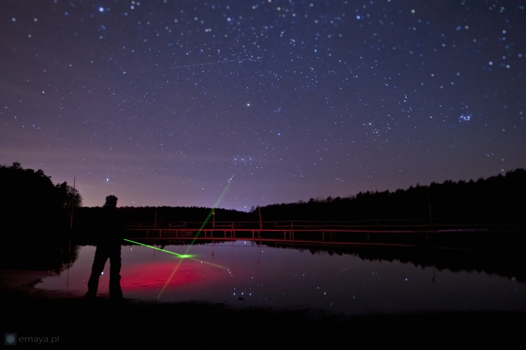 zachod Oriona nad Brdą